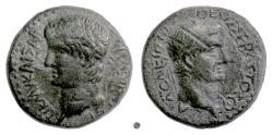 Ancient Coins - CLAUDIUS & Divus AUGUSTUS, MACEDON, Thessalonica. AE 22, 41-54 AD