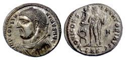 Ancient Coins - CONSTANTINE I. AE follis, Cyzicus mint, 317-320 BC. Jupiter