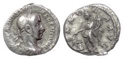 Ancient Coins - Severus Alexander. AR denarius, Rome mint, struck 226 AD. Abundance