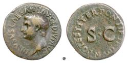Ancient Coins - DRUSUS, as Caesar. AE as, Rome mint under Tiberius 22-23 AD