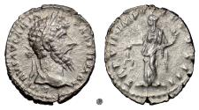 Ancient Coins - LUCIUS VERUS.  AR Denarius, Rome mint, struck 167 AD