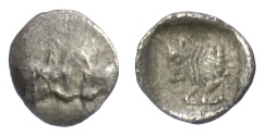 Ancient Coins - CARIA, Uncertain city. AR tetartemorion, 5th century BC