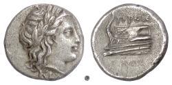 Ancient Coins - BITHYNIA, Kios. AR hemidrachm, circa 350-300 BC. Proxenos, magistrate