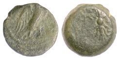 Ancient Coins - SELEUKID, Demetrios II. AE denom C, Antioch, 129-125 BC. Eagle / Thunderbolt. Rare