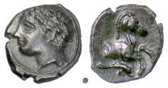 Ancient Coins - PUNIC SICILY, Panormos.  AE14, late 4th Century BC