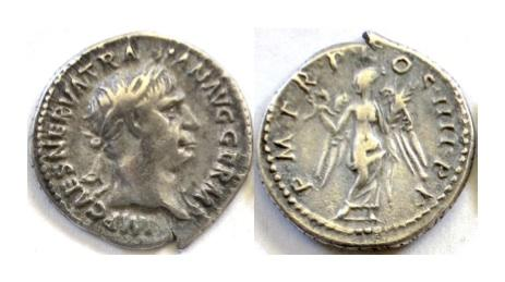 Ancient Coins - TRAJAN. AR denarius. Rome mint. Struck AD 102