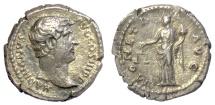 Ancient Coins - Hadrian. AR Denarius. Rome mint. Struck 134-138 AD. Moneta