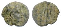 Ancient Coins - SELEUKID, Demetrios II. AE denom C, first reign, 146-138 BCE. Anchor. Rare