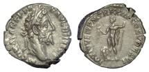 Ancient Coins - COMMODUS, AR denarius, Rome mint, struck 189 AD. Nude Jupiter