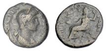 Ancient Coins - PLOTINA (wife of Trajan). LYDIA, Gordus-Julia, struck circa 112-117 AD. RARE