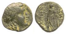 Ancient Coins - SELEUKID, Antiochos III 'the Great'. AE denom C, 222-187 BCE. Apollo. Rare
