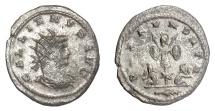 Ancient Coins - GALLIENUS. AR Antoninianus, Antioch mint, struck 264-265 AD. Trophy