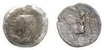 Ancient Coins - SELEUKID KINGS, Antiochos IV. AE tetrachalkon, Seleukia on the Tigris mint. Zeus. RARE