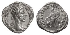 Ancient Coins - Commodus. AR denarius, Rome mint, struck 181 AD. Aequitas