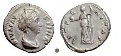 Ancient Coins - DIVA FAUSTINA SR.  AR denarius, Rome mint, circa 146-161 AD