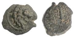 Ancient Coins - SELEUKID KINGS, Antiochos VII Euergetes. AE denom C, Antioch, 138/7 BC. Lion / Club