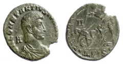Ancient Coins - CONSTANTIUS GALLUS. AE follis. Siscia mint, 351-354 AD. Soldier spearing fallen horseman