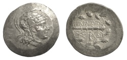 Ancient Coins - IONIA, Herakleia ad Latmon. AR Tetradrachm, circa 150-142 BC