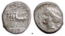 Ancient Coins - SICILY, Lilybaion. AR tetradrachm, circa 330-305 BC
