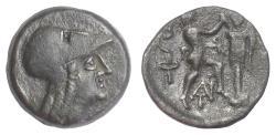 Ancient Coins - MACEDON, Antigonos II Gonatas. AE 19. Pella or Amphipolis, circa 271-239 BC. Athena / Pan