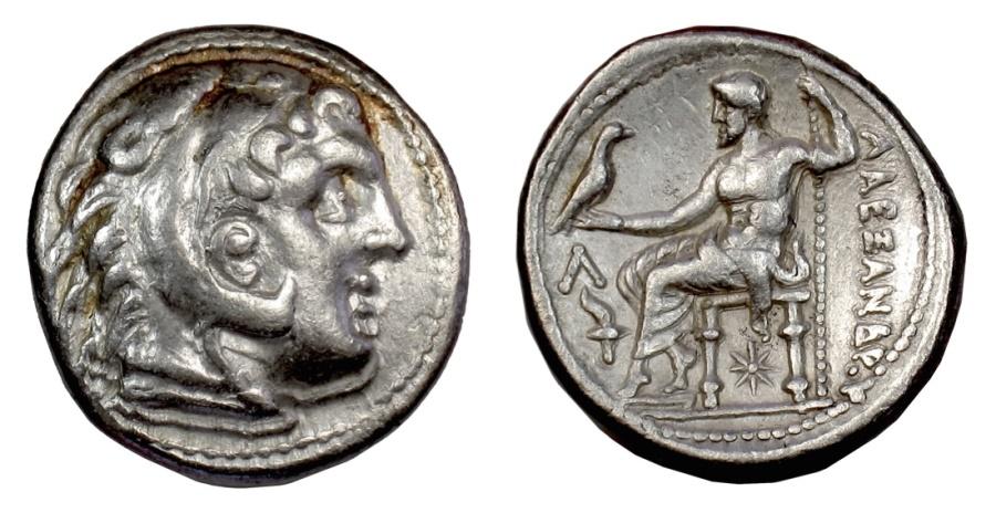 Ancient Coins - Alexander III 'the Great'. AR tetradrachm, Amphipolis mint, circa 307-297 BC
