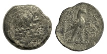 Ancient Coins - SELEUKID KINGS, Antiochos IV Epiphanes. AE denomination AA, Antioch mint. Struck 169-168 BC