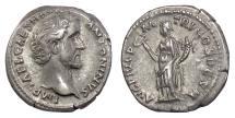 Ancient Coins - Antoninus Pius. AR Denarius, Rome mint., struck 138 AD. Felicitas