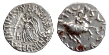 Ancient Coins - BAKTRIA, Antimachos II. AR Drachm, circa 160-155 BC. Nike / Antimachos on horse