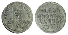 Ancient Coins - BYZANTINE, Leo VI the Wise. AE follis, Constantinople mint, 886-912