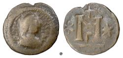 Ancient Coins - Byzantine, JUSTIN I. AE Follis. Barbarous imitation. Uncertain mint.