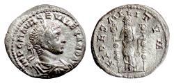 Ancient Coins - SEVERUS ALEXANDER. AR denarius, Rome mint, 225 AD. Fides Militum