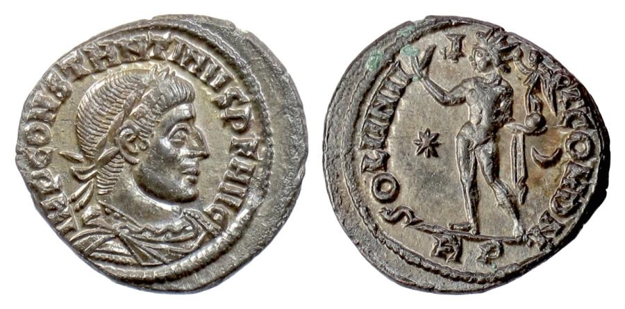 Ancient Coins - CONSTANTINE I. AE follis, Rome Mint 316 AD