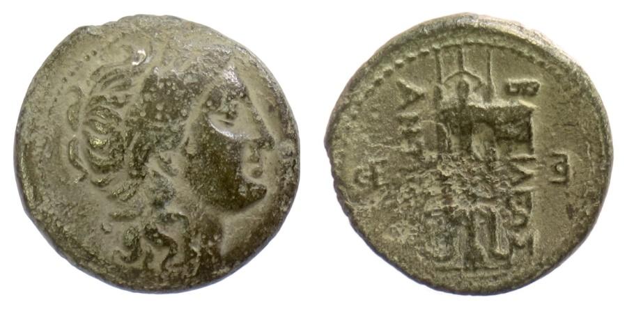 Ancient Coins - SELEUKID KINGS of SYRIA, Antiochos I Soter. AE denomination B, Antioch mint. Apollo / tripod