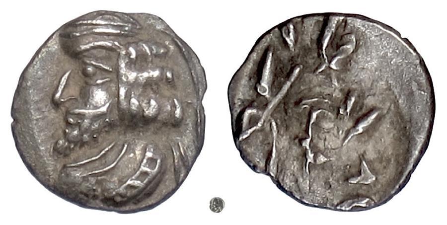 Ancient Coins - Persis, VAHSIR (Oxathres).  AR obol, 1st century BCE