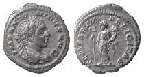 Ancient Coins - ELAGABALUS. AR denarius, Rome, struck 219-220 AD. Felicitas