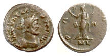 Ancient Coins - ALLECTUS. Antoninianus, London mint, 294-5 AD. Pax