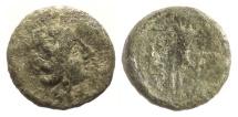 SICILY, Aitna. AE sextans, circa 210-150 BC.  Persephone / Cornucopia