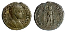 Ancient Coins - Caracalla. THRACE, Serdica. AE 29, 198-217 AD. Ares with spear and shield