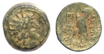 Ancient Coins - SELEUKID KINGS, Antiochos VIII Epiphanes. AE denomination B, Antioch mint. Dated SE 192 (121/0 BC)