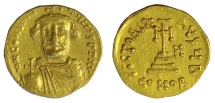 Ancient Coins - Constans II. AV Solidus. Constantinople mint. Dated IY 8 (AD 649/50)