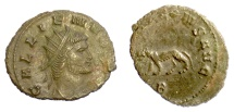Ancient Coins - GALLIENUS. Antoninianus, Rome mint. Struck 267-268 AD. Panther
