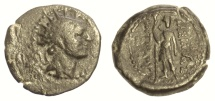 Ancient Coins - SELEUKID KINGS of SYRIA, Antiochos IV Epiphanes. AE denomination C, Ake Ptolemais (?) mint, 175-164 BC