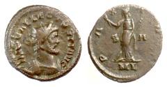 Ancient Coins - ALLECTUS. Antoninianus, London mint, 294-5 AD. Pax