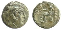 Ancient Coins - SELEUKID KINGS, Seleukos II Kallinikos. AE denomination C, Sardeis mint. Herakles / Apollo