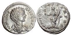 Ancient Coins - Geta. As Caesar. AR denarius, Rome mint, struck 198-200 AD. Felicitas
