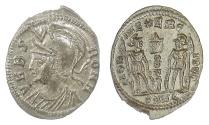 Ancient Coins - Urbs Roma, AE Follis, Heraclea mint, 336-337 AD. Nearly as struck. Scarce