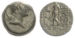 Ancient Coins - SELEUKID KINGS, Antiochos VIII Epiphanes. AE denomination C, Antioch mint, 121/120 BC