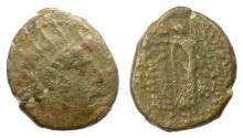 Ancient Coins - SELEUKID KINGS, Demetrios III Eucaerus. AE denom B, Damaskos mint, 97-87 BC. Nike