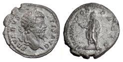 Ancient Coins - Septimius Severus. AR denarius, Rome. Struck circa 201 AD