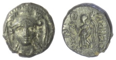 Ancient Coins - SELEUKID KINGS of SYRIA, Antiochos I Soter. AE denomination C, Smyrna (or Sardes) mint. Athena / Nike